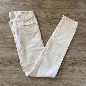 Zara Skinny White Pants